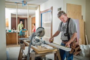 Miami Home Inspectors man preparing materials for home remodeling