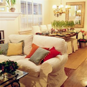dining and living room area preparation - home inspection miami
