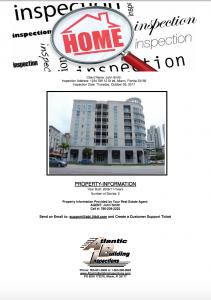 Sample condo inspection report