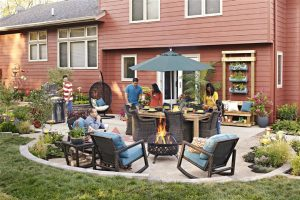 get together in an outdoor space - home inspection miami