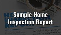 Sample Home Inspection Result